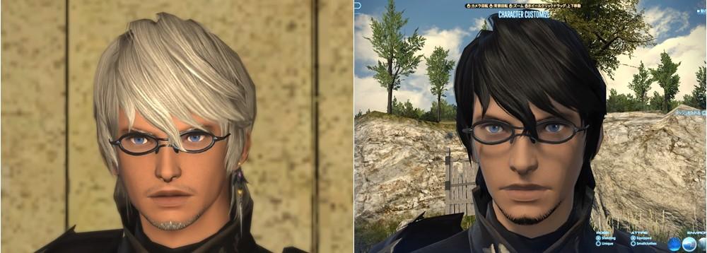 自分のキャラに似合わないな、縦長だなと思ったので眼鏡で横ラインを作ってみると少しマシになりました。この顔タイプのミドラン男は色白のほうが合わせやすそう。